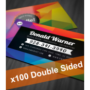 100 Colour Business Cards (2 sides)