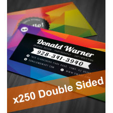 250 Colour Business Cards (2 sides)
